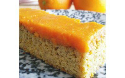 Gluten-Free Orange Cake with Sweet Potato & Orange Icing